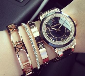 jewels watch bling jewelry bracelets stacked bracelets gold gold bracelet