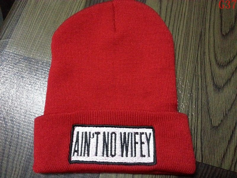 Hot Red Hat Ain'T No Wifey Hip Hop Hat Unisex Youth Beanie Knited Cool Cap G37 | eBay