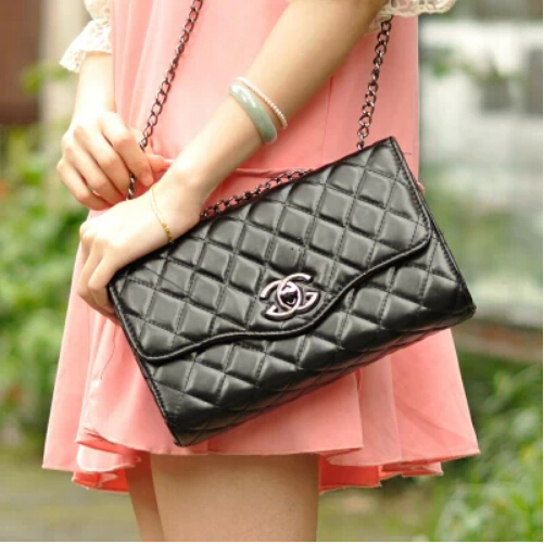 Free shipping 2014 new European and American fashion Chanels chain bag Quilted Shoulder Messenger dual C Cross Women's Bag on Aliexpress.com