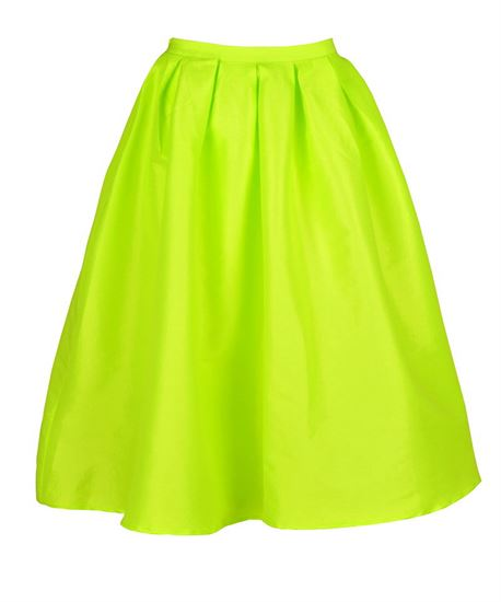 Get the looks online wardrobe\pleated midi full skirt in neon