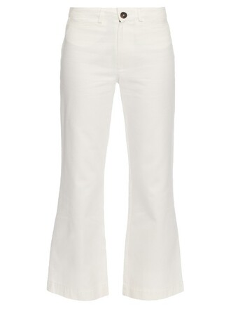 jeans cropped high cream