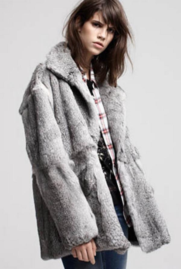MAJE - Doberman fur coat | Grey Fur Coats | Womenswear | Lane ...