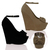 New Womens Ladies High Heel Wedge Platfrom Ankle Strap Style Peep Toe Shoes Size | eBay