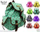 Large ladies anna smith polka dot school college shoulder backpack rucksack bag