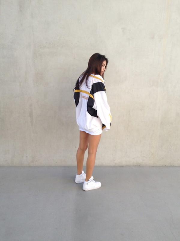 jacket black white yellow cardigan dope swag fashion grunge t-shirt shirt