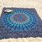 150x210cm bohemian style thin chiffon beach yoga towel mandala rectangle bed sheet tapestry - newchic