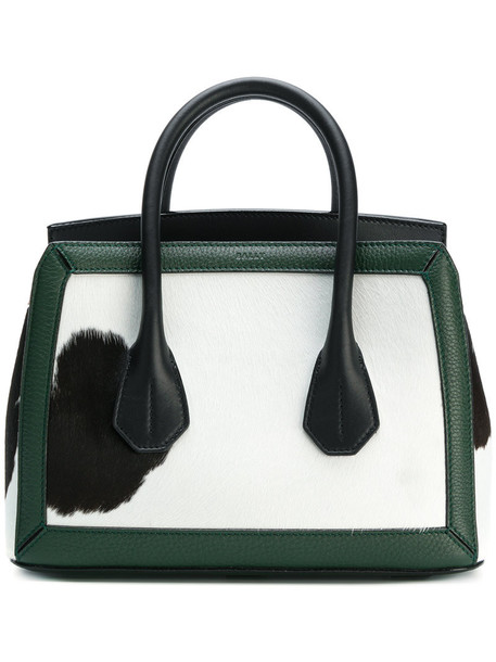 Bally - small Sommet tote bag - women - Calf Leather - One Size, Green, Calf Leather
