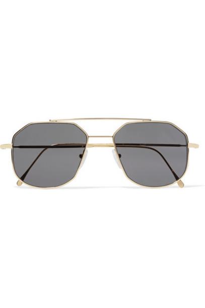 52eb0e07bb2 Illesteva - Montevideo Aviator-style Gold-tone Sunglasses - Wheretoget