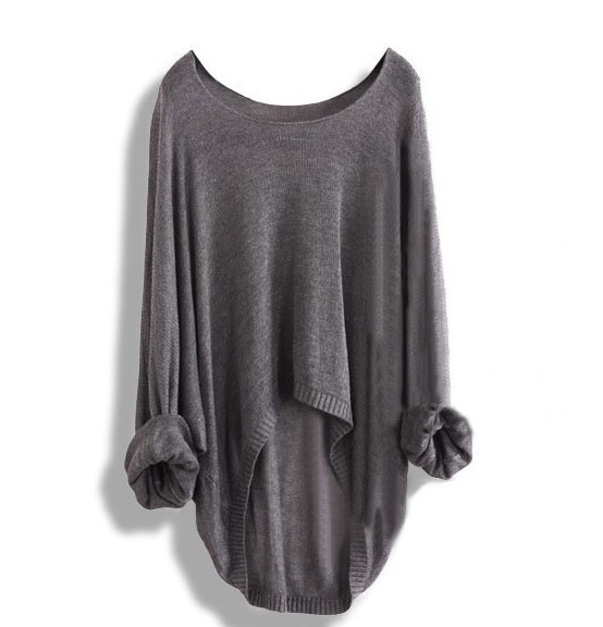 A 083101 Long-Sleeved Knit Shirt Blouse Hollow / Autumn outfit shop