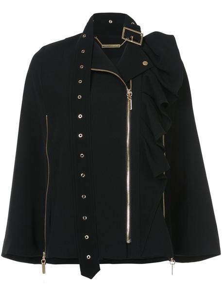 Thomas Wylde jacket ruffle women black