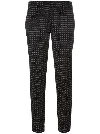cropped women spandex jacquard black pants