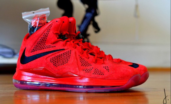 shoes nike sneakers lebron 10 all red
