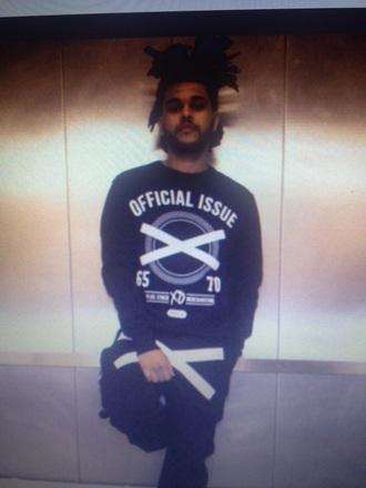sweater black crewneck the weeknd xo sweater