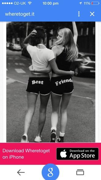 shorts bestfriend shorts bff friends