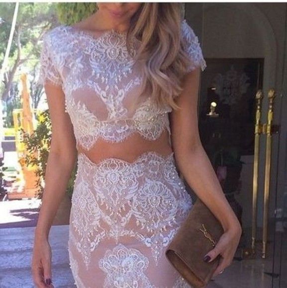 lace skirt two-piece