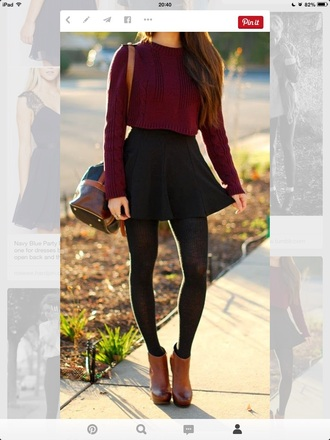 coat burgundy sweater
