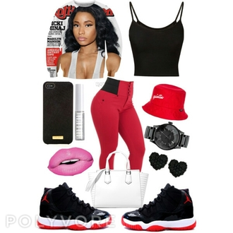 sweater nicki minaj crew neck crewneck jordans pants shoes make-up