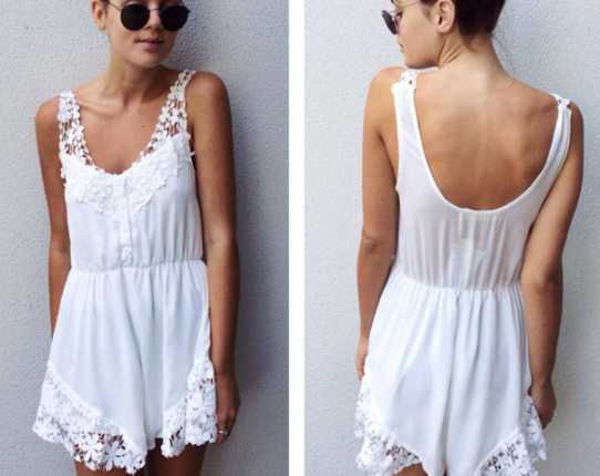 2014 Free shipping NEW ARRIVALS  Fashion Flower Duolei Si decorative  fit flouncing  play suit  Jumpsuits  TB 6139-in Jumpsuits & Rompers from Apparel & Accessories on Aliexpress.com