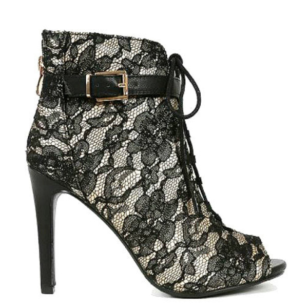 Black Lace Overlay Shoes