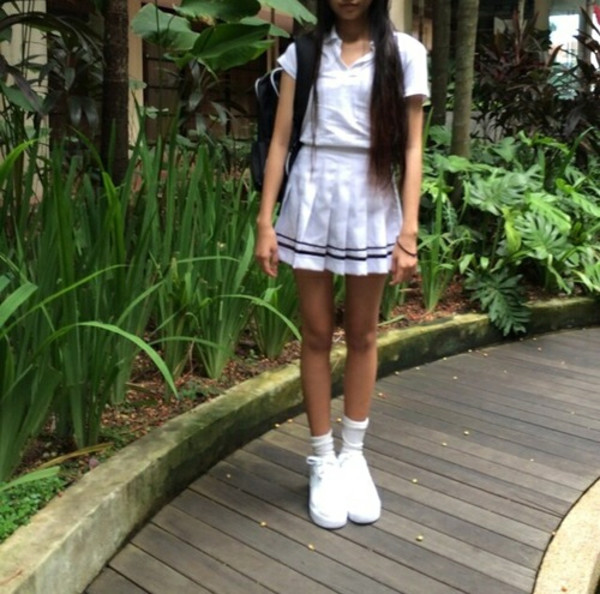 skirt buy trends black stripe tennis skirt cheerleading pleated skirt kawaii japanese school girl kawaii dark soft grunge white japanese