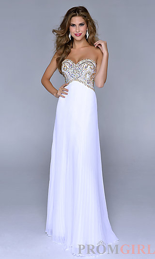 Prom Dresses, Celebrity Dresses, Sexy Evening Gowns - PromGirl: Floor Length Strapless Sweetheart Dress