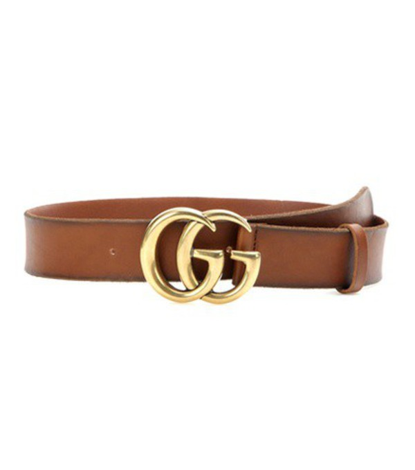 Gucci Embellished leather belt in brown