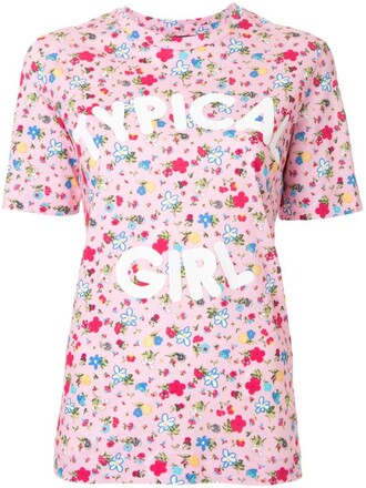 t-shirt shirt girl print purple pink top