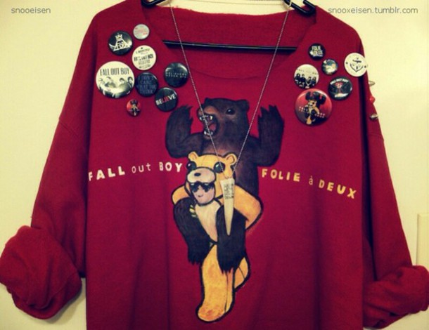 fall out boy cardigan