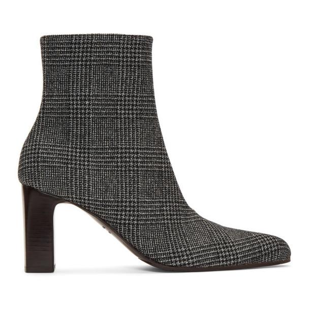 Balenciaga Black & White Prince Of Wales Check Boots