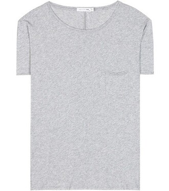 t-shirt shirt cotton t-shirt boyfriend cotton grey top