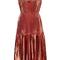 Metallic pleated dress | moda operandi