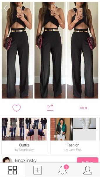 jumpsuit high waisted pants romper black jumpsuit