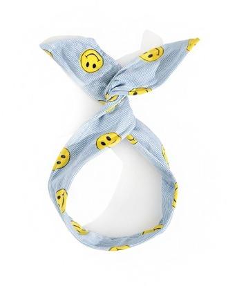 hair accessory smiley face headband blue headband cute happy face hair tie head scarf pixie market girl smiley pixie market