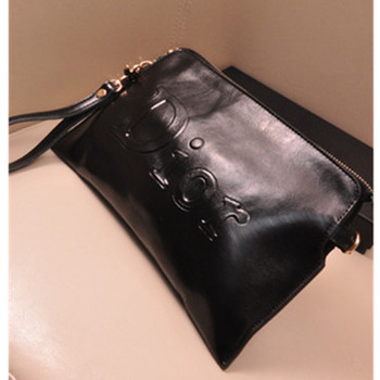 2013 Fashion Vintage Handbags Envelope Bag Women Genuine Leather Handbag Small Shoulder Bags Real Leather Clutch Black Bag-inClutches from Luggage & Bags on Aliexpress.com