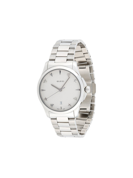 Gucci - G-timeless watch - women - metal/stainless steel - One Size, Grey in metallic