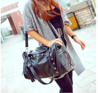 bag shouler bag rivets handbag