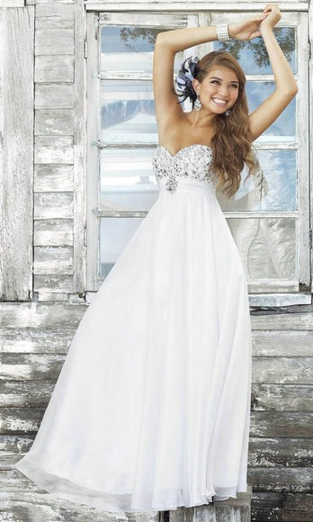 dress white white dress formal pattern long dress white formal dress