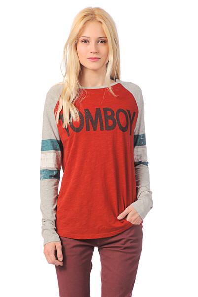 T-shirt en coton Tomboy Rouge / Gris Leon & Harper sur MonShowroom.com