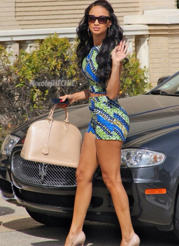 blouse draya michele draya michele african american designs tribal pattern tribal pattern high waisted shorts crop tops african designs tight top basketball wives