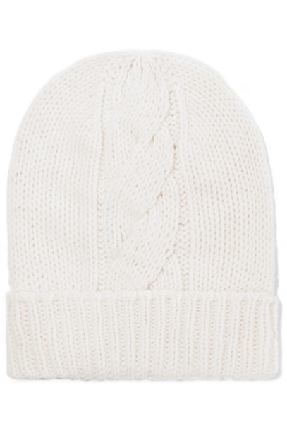 Majestic Filatures - Cable-knit Wool And Cashmere-blend Beanie - Cream