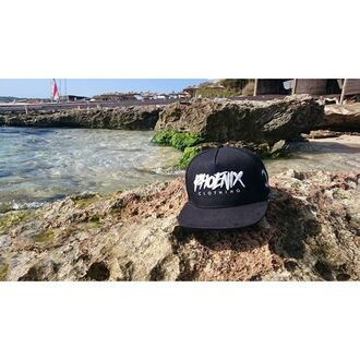 hat phoenix cap snapback black snapback 5 panel beach