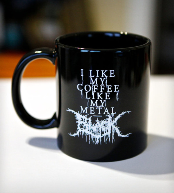 t-shirt coffee mug coffee black heavy metal music