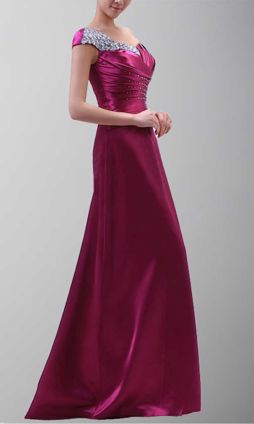 One Shoulder Beaded Purple Long Satin Evening Dress KSP103 [KSP103] - £99.00 : Cheap Prom Dresses Uk, Bridesmaid Dresses, 2014 Prom & Evening Dresses, Look for cheap elegant prom dresses 2014, cocktail gowns, or dresses for special occasions? kissprom.co.uk offers various bridesmaid dresses, evening dress, free shipping to UK etc.