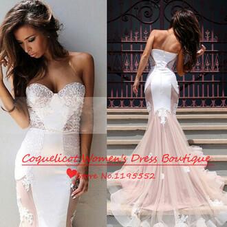 dress mermiad prom dress strapless sweetheart neckline long prom dress prom dress evening dress party dress wedding guest dress lace prom dress helloeva