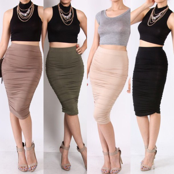 skirt mocha style nude dress nude skirt midi skirt