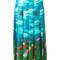 Gucci garden print skirt, women's, size: 42, blue, silk