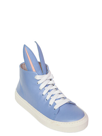 bunny sneakers leather light blue light blue shoes