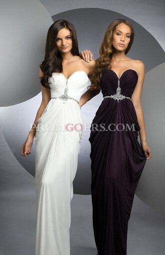 dress prom prom dress sweetheart white dress empire waist