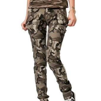Amazon.com: Aubig Ladies Women's Desert Camouflage Cargo Jeans Army Military Pants: Clothing