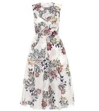 dress silk dress floral silk
